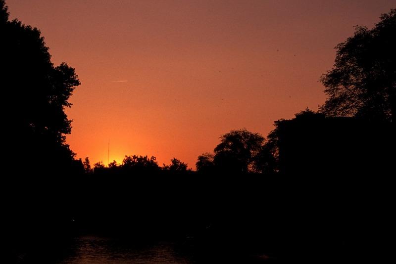 Sonnenuntergang nahe Leidsebrug