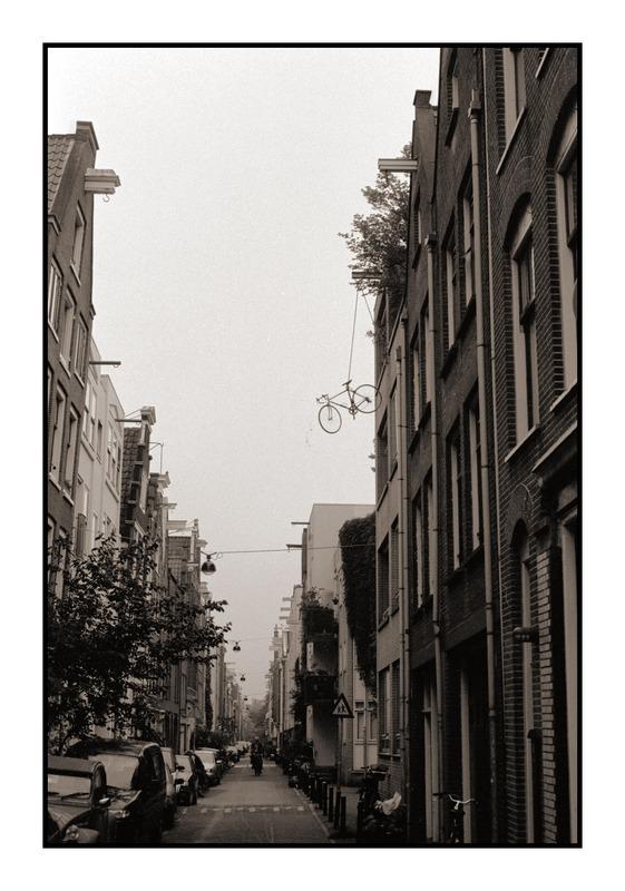 Fahrrad an Flaschenzug