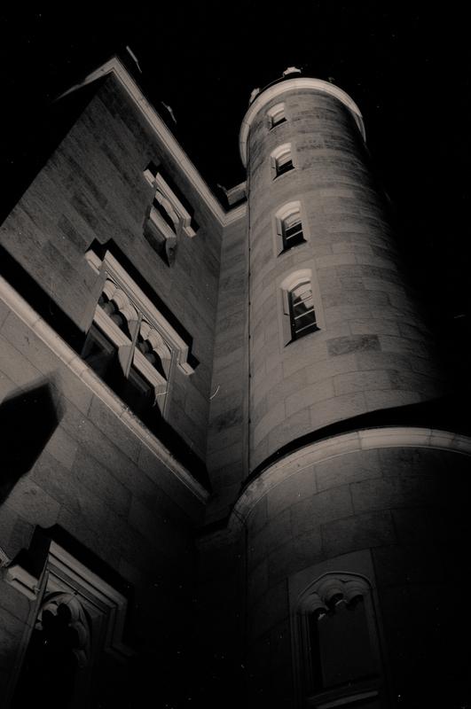 Aufblick in Schloss Eckbert