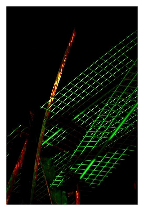 Stahl in Grün und Rot