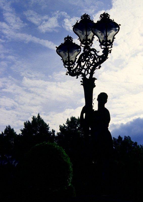 'ne Lampe im Park Sanssouci
