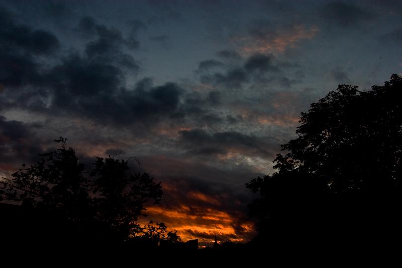 Sonnenuntergang am Wasserturm