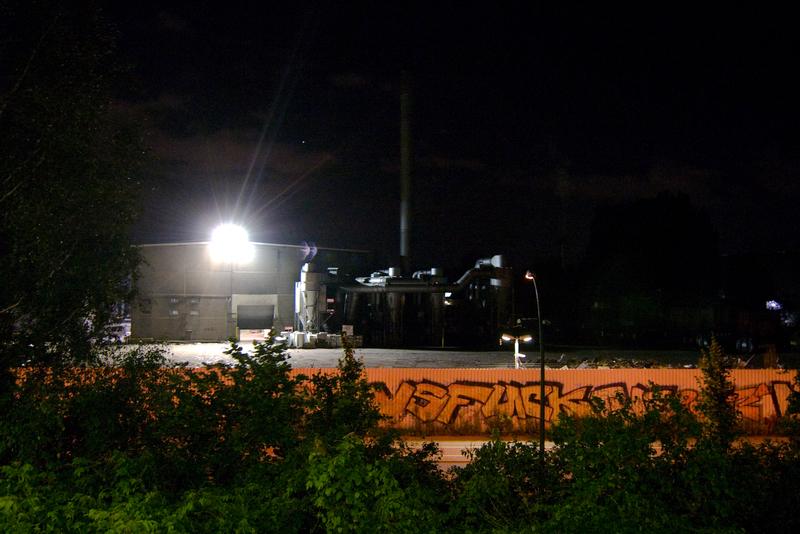 Nachts um 23:13 am S-Bahnhof Schönholz
