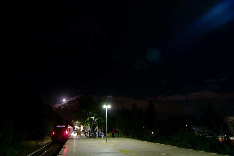 S-Bahnhof Schönholz um 23:16 Uhr