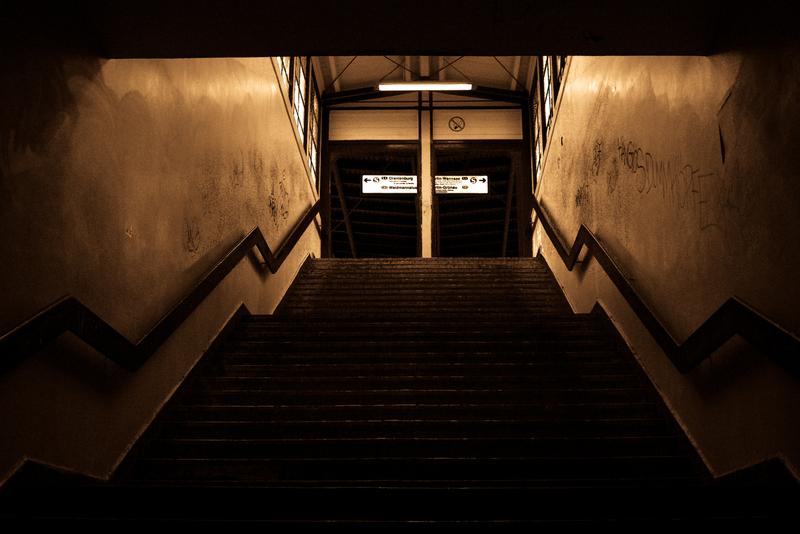 Treppe zum S-Bahnhof Wittenau