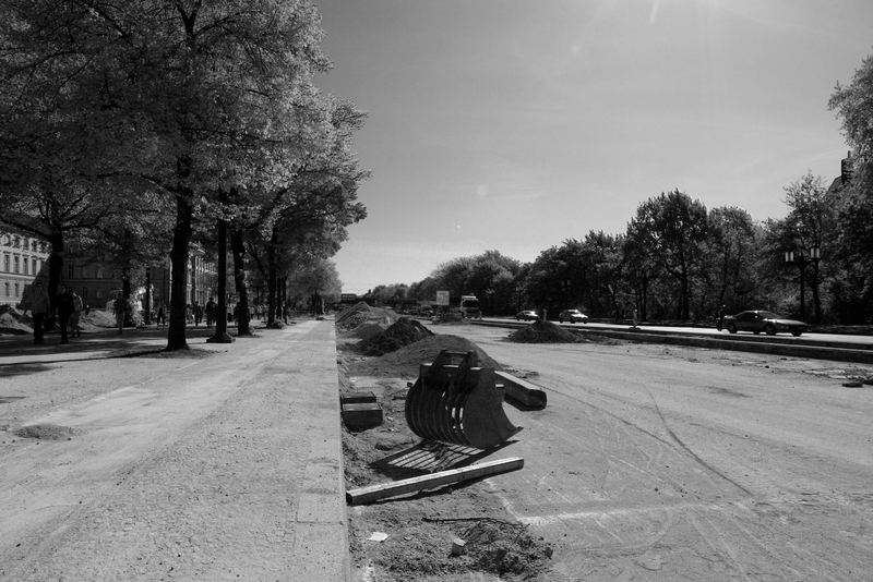 Bauwüste an der Straße des 17. Juni